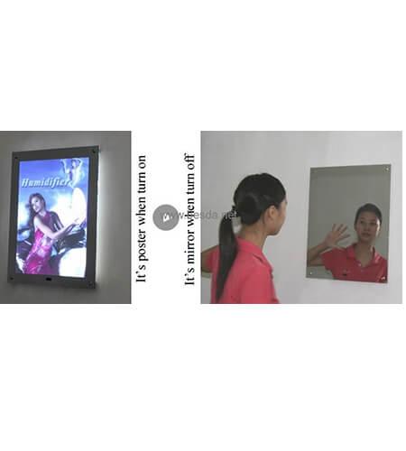 LED magic mirror light box frameless