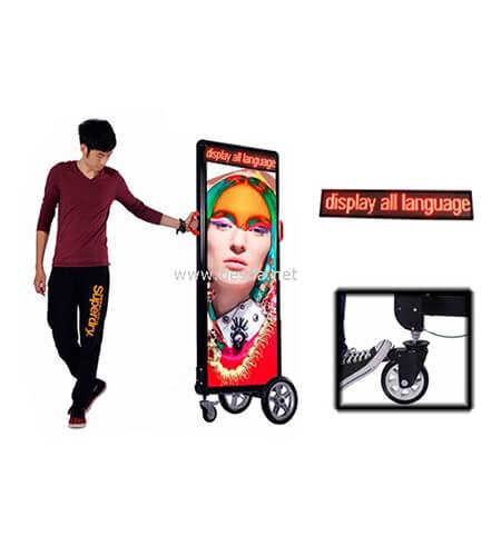 LED Wheel billboard, LED cart billboard, LED wheel lightbox with scrolling message on top