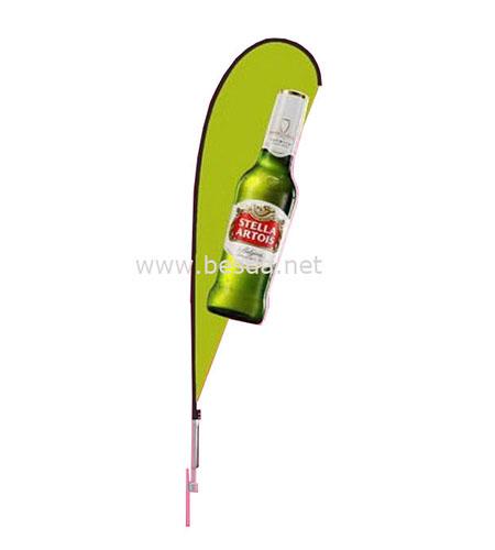Besda 3D Custom advertising teardrop flag supplier