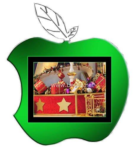 LED Acrylic light box apple shape CD-9