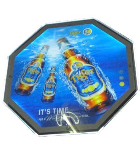LED Acrylic crystal light box customized octagonal shape CD-3 2