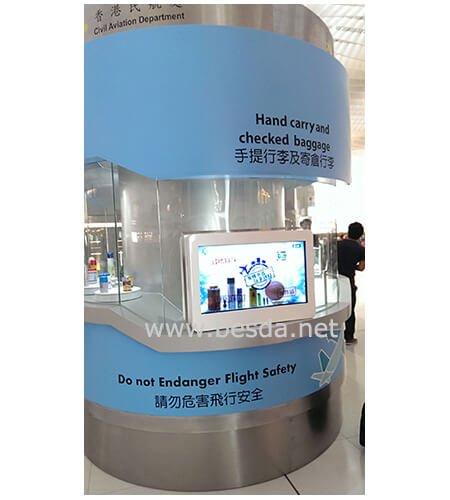 Transparent LCD Display in Hongkong Airport