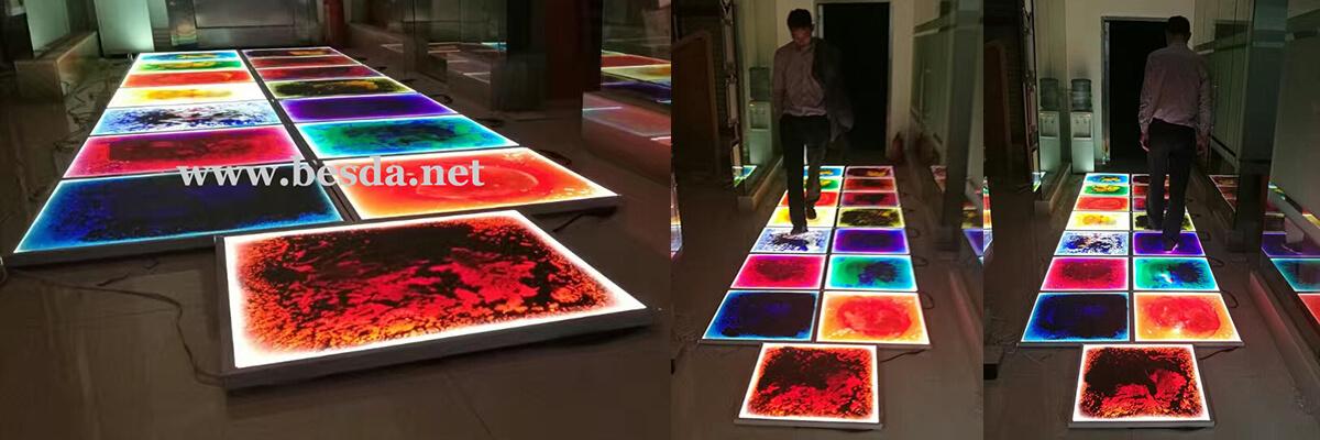 Liquid lighting flooring tile light box