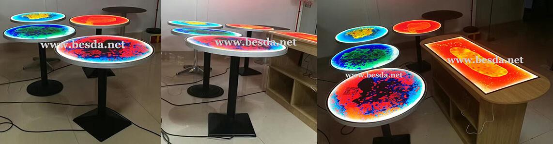 Liquid lighting meeting room table